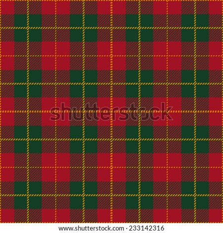 Christmas Tartan Plaid Seamless Design - stock vector