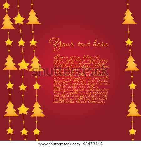 Christmas template background - stock vector