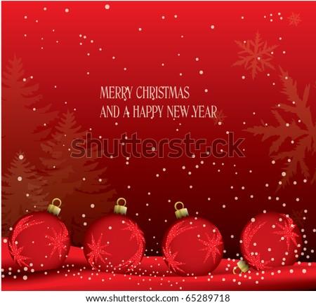 christmas theme card - stock vector