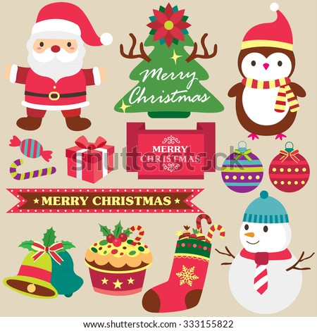 christmas theme clip art set