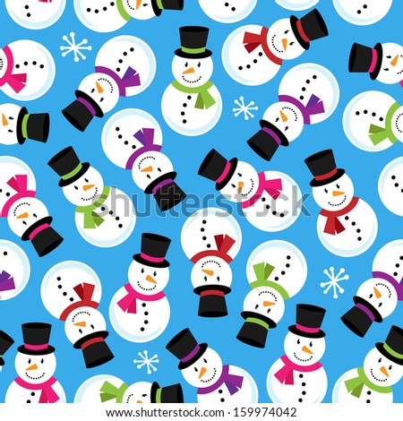 Christmas Themed Seamless Patterned Background - stock vector