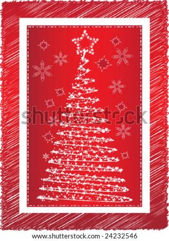 Christmas three - stock vector