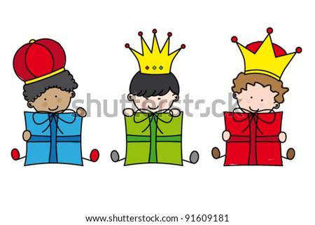 Christmas. Three Kings - stock vector