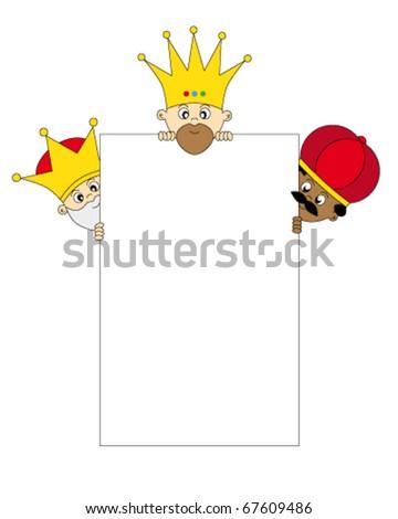 Christmas: Three Kings - Three Wise Men - stock vector