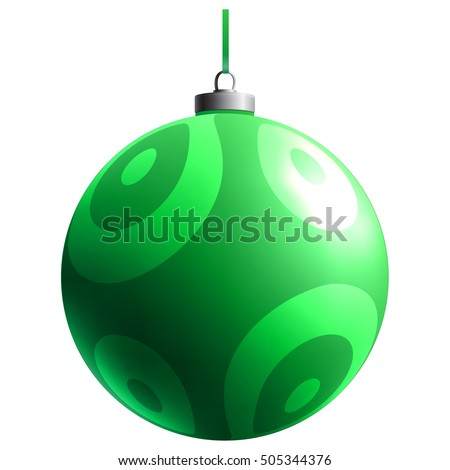 Christmas Toy. New year element. Holiday decoration. Colorful glass ball. Color decorative object. Bright gradient effect. Isolated sphere.