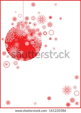 Christmas toy, the red - stock vector