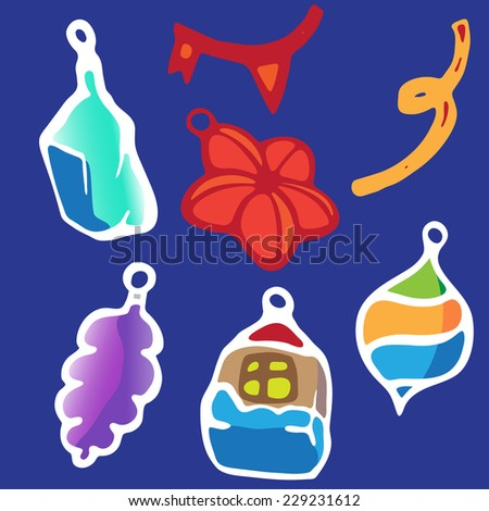 Christmas toys. - stock vector