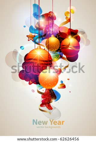 Christmas toys - stock vector