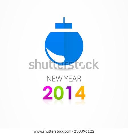 Christmas toys icon 2014 - stock vector