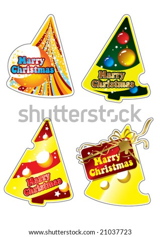 Scratch off win lottery ticket isolated stock illustration christmas tree sciox Images
