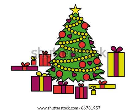 Christmas tree. - stock vector