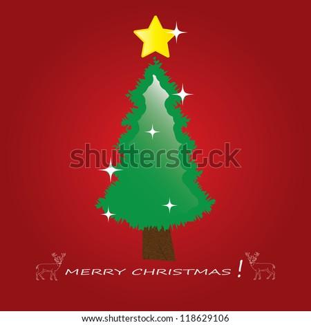 Christmas tree applique vector background. Eps 10. - stock vector