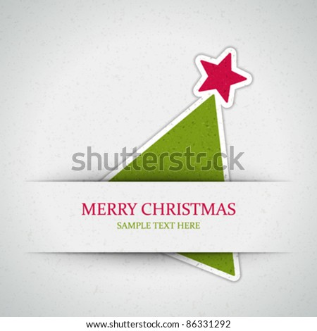 Christmas tree applique vector background. Eps 10. - stock vector