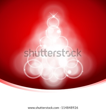 Christmas Tree Background - stock vector