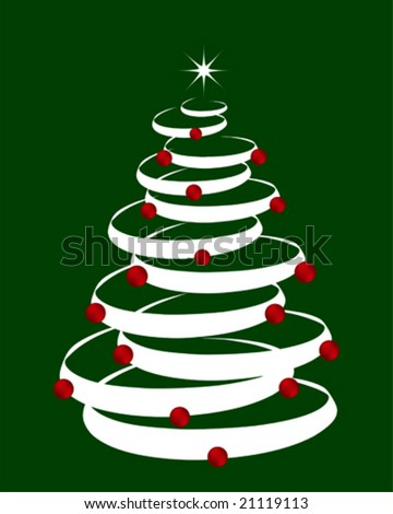 Christmas tree background designed in Illustrator format. - stock vector