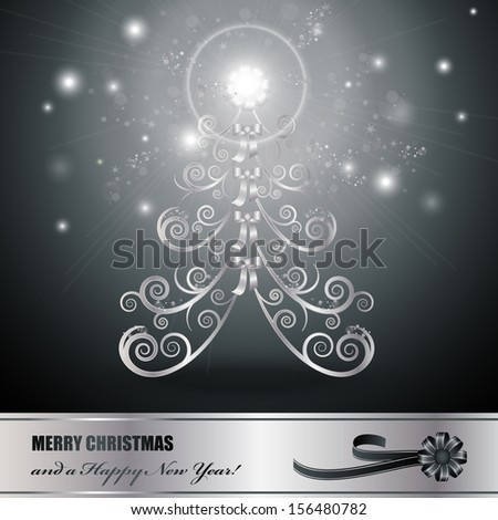 Christmas Tree Background - Vector Illustration, Graphic Design Editable For Your Design. - stock vector