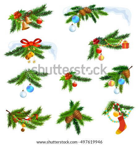 Christmas Tree Decoration Elements: Stock Images, Royalty-Free Images & Vectors