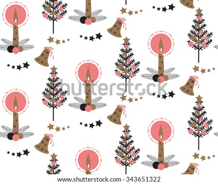 Christmas Tree Holly Leaf Berry Ornament Stock Vector 340382012 ...