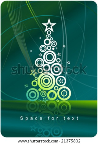 Christmas tree - Christmas and New Year's background - stock vector