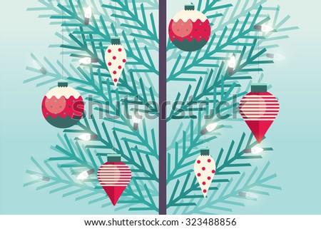 christmas tree/ christmas tree ornament vector/illustrator - stock vector