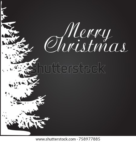 Christmas Tree Concept Card Or Phone Wallpaper