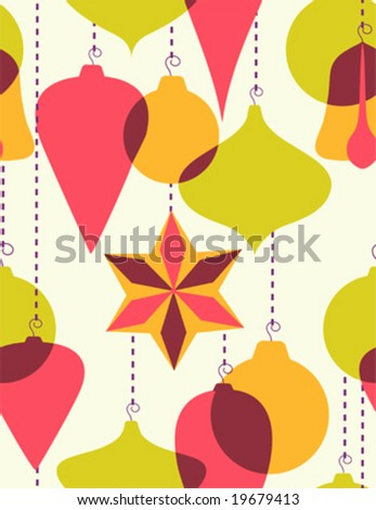 Christmas-tree decoration - stock vector