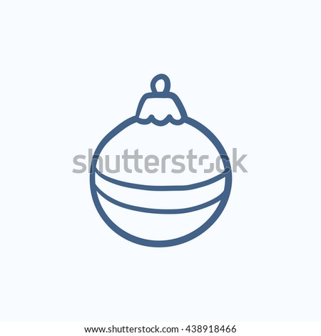 Christmas-tree decoration vector sketch icon isolated on background. Hand drawn Christmas-tree decoration icon. Christmas-tree decoration sketch icon for infographic, website or app. - stock vector