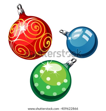 Christmas tree decorations. Vector. - stock vector
