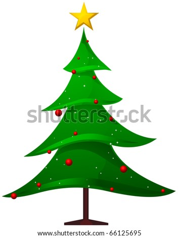 Christmas Tree Design Featuring a Christmas Tree with Jagged Edges - stock vector