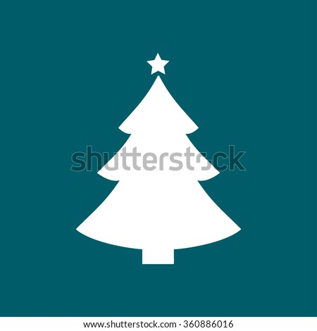christmas tree flat icon - Flat Christmas Tree