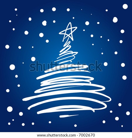 Christmas Tree Flourish (vector). In the gallery also available XXL jpeg image made from this vector - stock vector