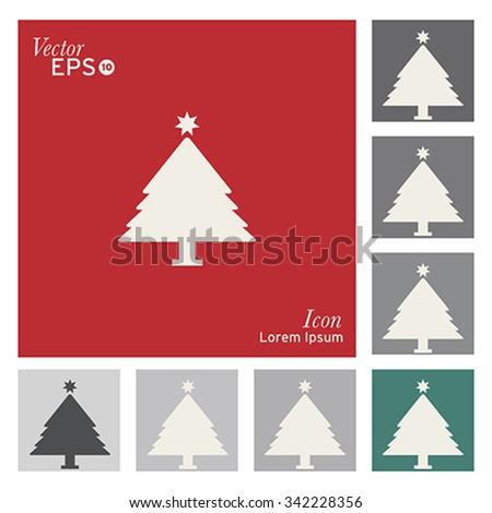 Christmas tree icon - vector, illustration. - stock vector