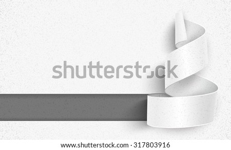 Christmas tree paper with shadow. Creative design vector - stock vector