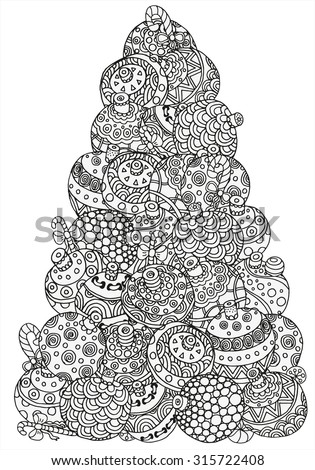 Christmas Tree Pattern Coloring