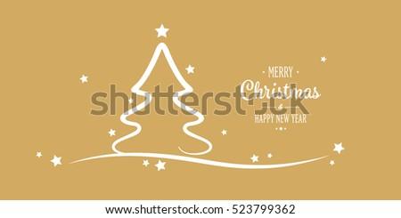 christmas tree stars greetings golden background - Christmas Tree Stars