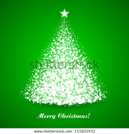 Christmas tree. Vector. - stock vector
