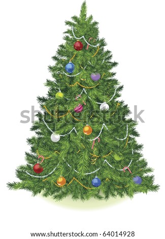Christmas tree vector - stock vector