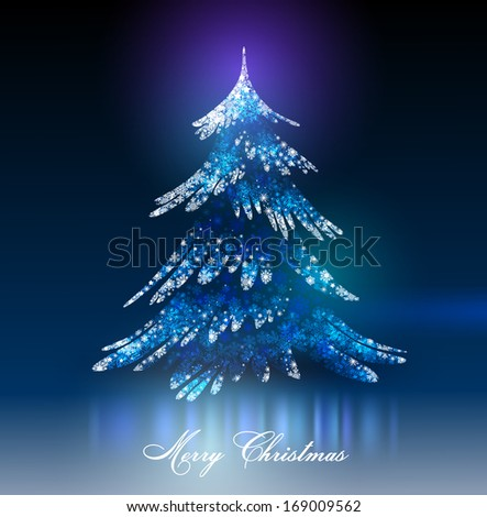 Christmas tree. Vector Eps 10. - stock vector