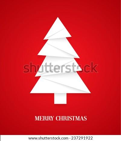 Christmas tree. Vector illustration. - stock vector