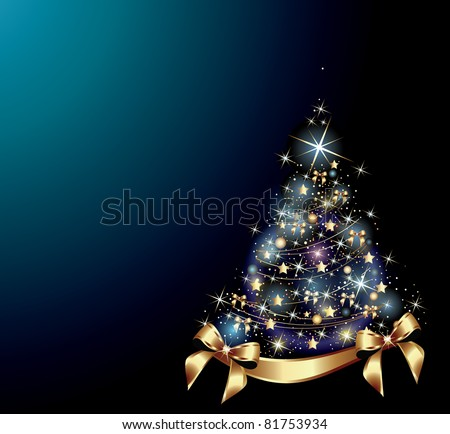 Christmas tree.Vector Illustration