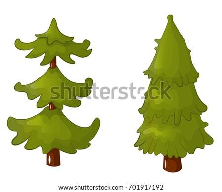 Pine Tree Family Cartoon Sapling Daughter Stock Illustration  - Christmas Tree Discounts