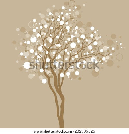 Christmas tree with light bubbles - stock vector