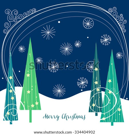 Christmas trees background - stock vector