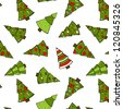 Christmas Trees Seamless Pattern. Christmas holidays trees. EPS 8. No effects used. - stock vector