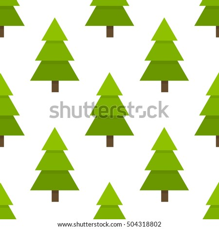 Christmas trees seamless pattern. Vector illustration