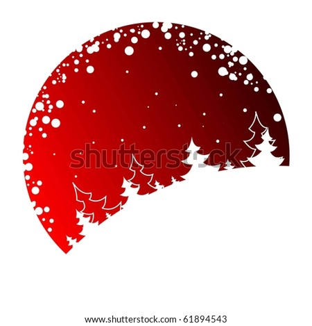 christmas vector background with chrismas trees - stock vector