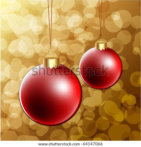 christmas vector background with christmas balls - stock vector