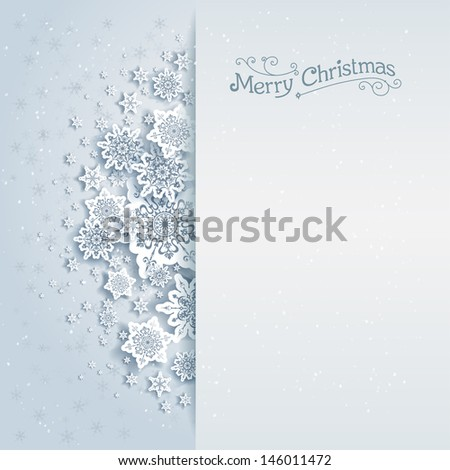 Christmas vector background with space for text - stock vector