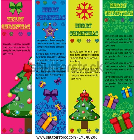 christmas vector banner with design elements