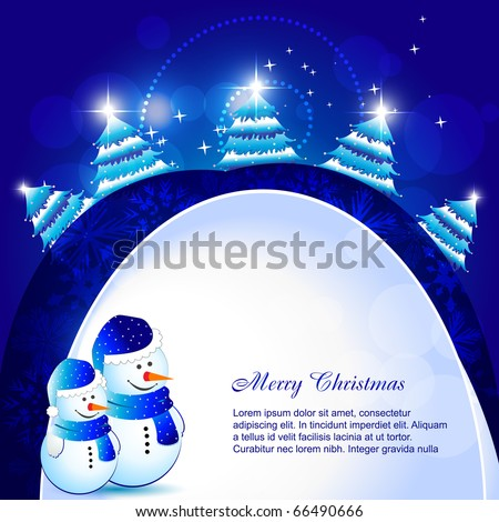 christmas vector beautiful blue color background - stock vector